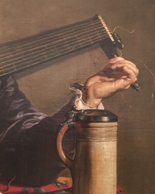 "Detail of ""The Lute Player"" (photo by author)"